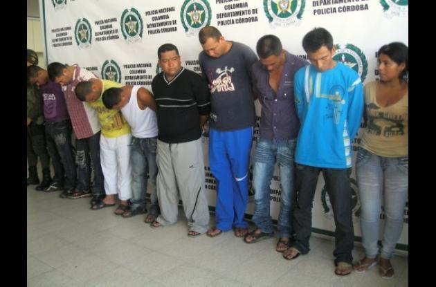 10 hombres acusados de pertenecer a los Urabeños fueron asegurados