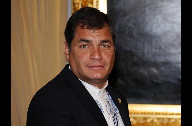 Rafael Correa, presidente ecuatoriano.