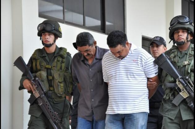 presuntos autores del crimen del  concejal David Padilla