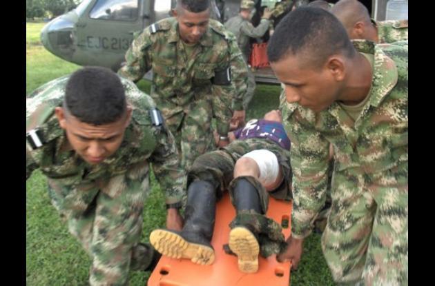 a guerrillera de las Farc herida fue trasladada para recibir atención médica