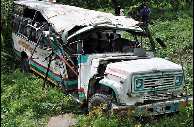 se accidentaron cuando viajaban en un bus de la empresa Sotracor