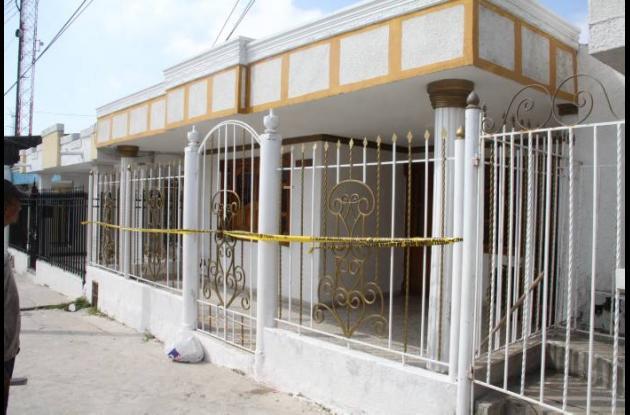 Casa donde sucedió el hecho en Soledad.