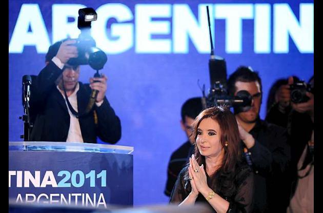 Cristina Fernández, reelecta en la Presidencia de Argentina.