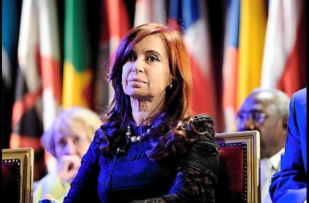 Cristina Kirchner, presidenta de Argentina