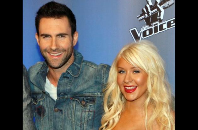 Christina Aguilera y Adam Levine.