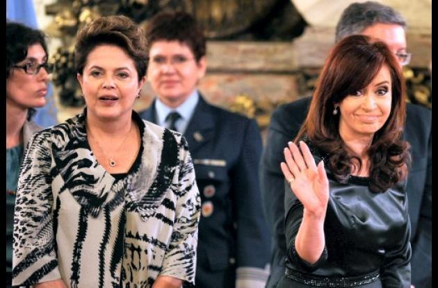 Cristina Kirchner y Dilma Rousseff: sello femenino a relaciones.