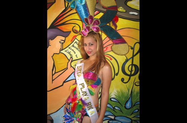 Candidata a Reina del Carnaval de Sahagún