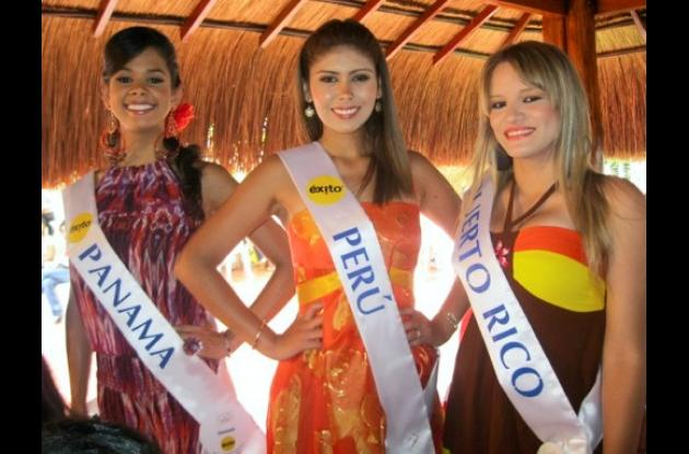 Andrea Quintero de Panamá, Jessica Córdova de Perú y Melanie López de Puerto Ric