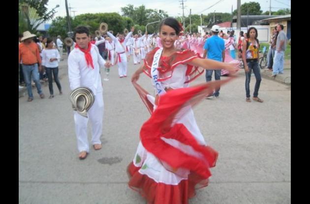 Mariana Loranca Moya de Costa Rica se gozó el desfile.