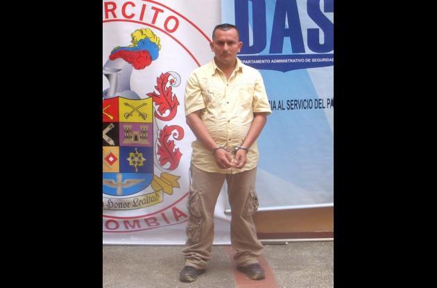 """Óscar Berrío Escobar, alias """"Alexis"""", capturado."""
