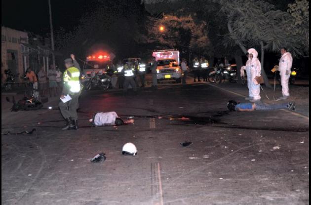 Dos muertos en accidente de tránsito en barrio Mocarí