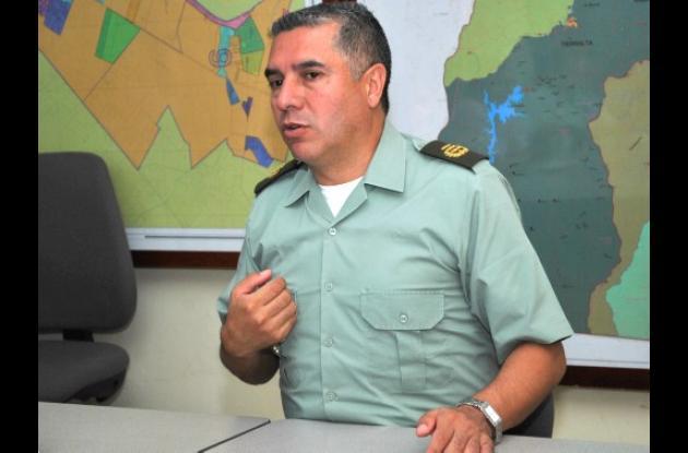 Coronel Héctor Páez, comandante de Policía.