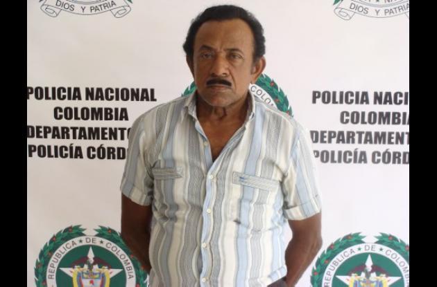Domingo Rafael Toscano Petro, capturado.