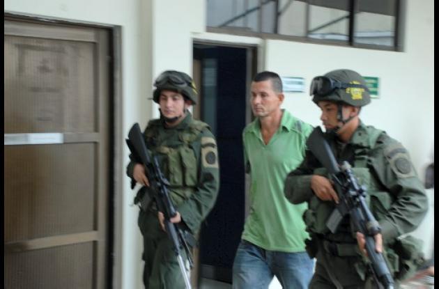 Luis Carlos Marín López, capturado en Planeta Rica.