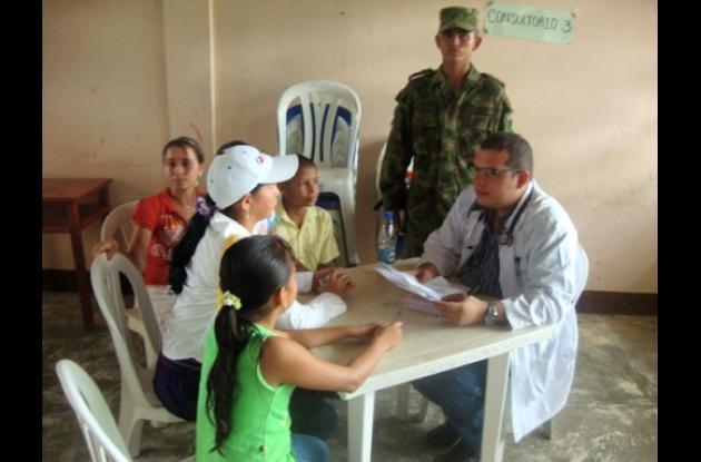 Medicina,  odontología, medicinas formaron parte de la brigada.