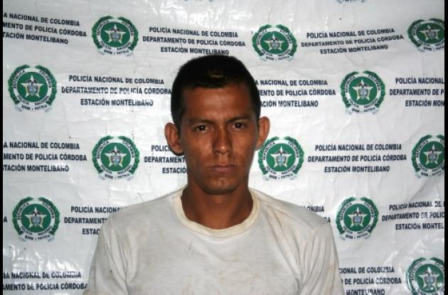 Emey David Muñoz, capturado.
