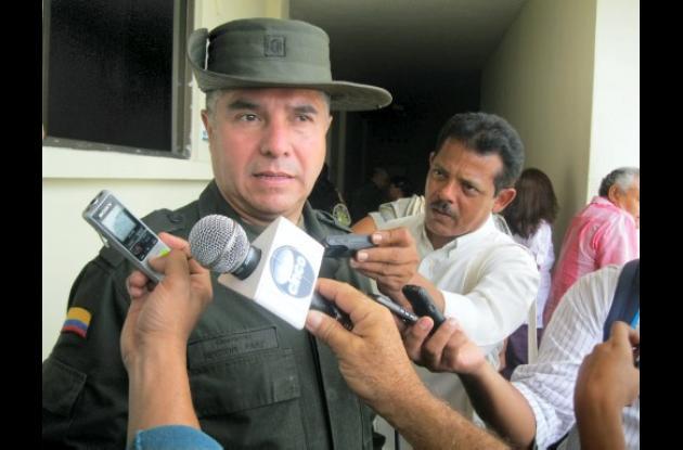 Coronel Héctor Páez Valderrama, comandante de Policía en Córdoba.