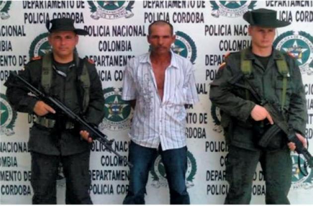 Rafael Narváez Lora, capturado.