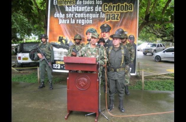 Bigadier general Leonardo Pinto, comandante de la XI brigada
