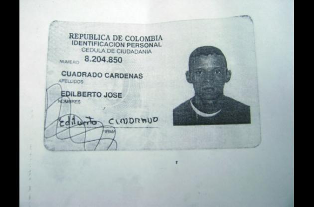 Documento de identidad de Cuadrado.