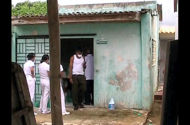 El cuerpo sin Vida de Erick Amador Vergara fue llevado a la morgue