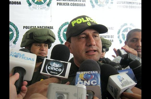 Comandante operativo de la Policía, Jesús María Barrero Vargas.