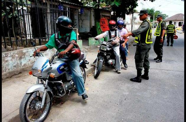 La policía en Cereté ha incrementado los controles a motociclistas