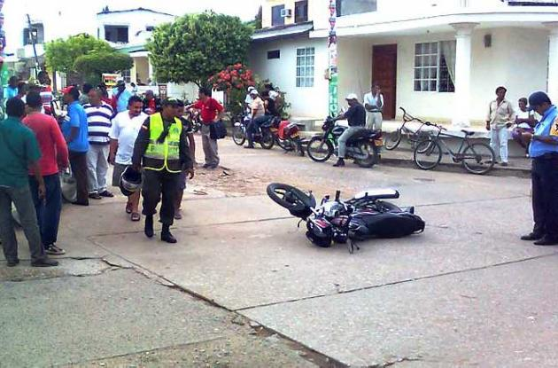 cómo quedó una motocicleta luego de uno de los accidentes