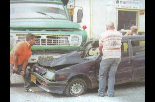 Los accidentes en la zona céntrica son cada vez más frecuentes