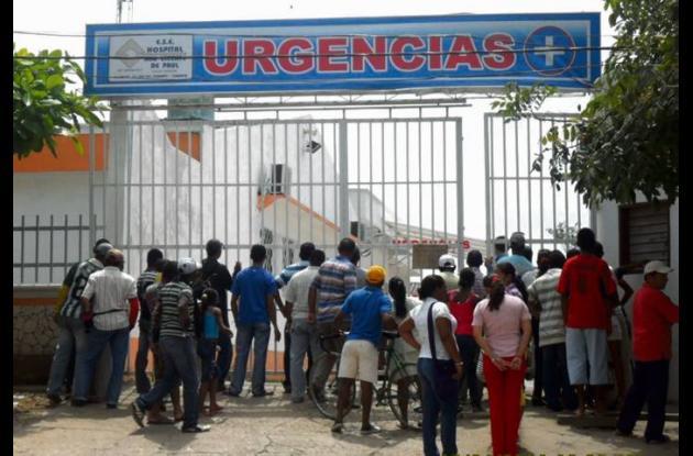 entrada de emergencias del hospital San Vicente en Lorica