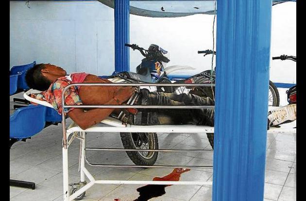 Daniel Santos Rodríguez llegó mal herido al Camu, donde pereció.