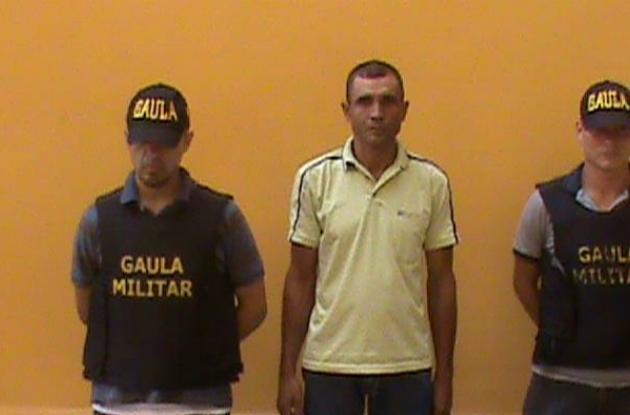 Luis Gabriel Negrete, detenido.