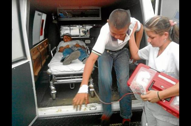 Los menores cuando eran conducidos al Camu de Pueblo Nuevo para ser valorados