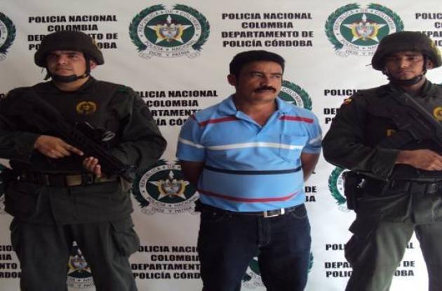 Huldar Montoya Borja, presunto guerrillero capturado.