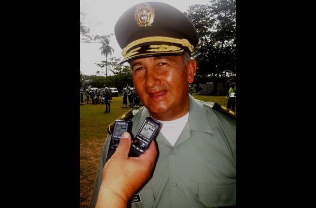 General José David Guzmán, Comandante Regional Seis de Policía.