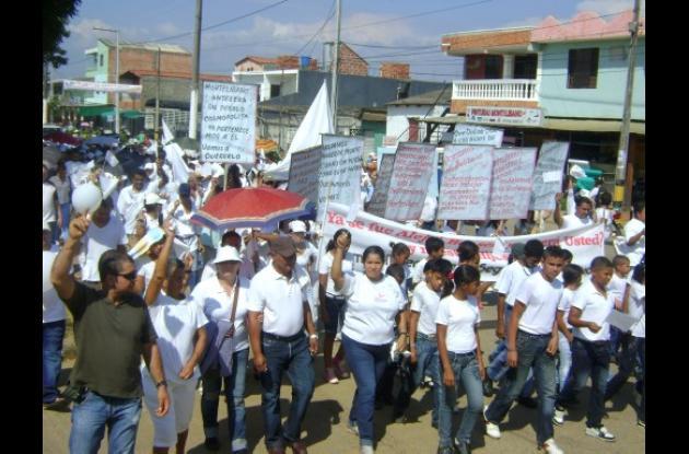 En Montelíbano se cumplió una marcha