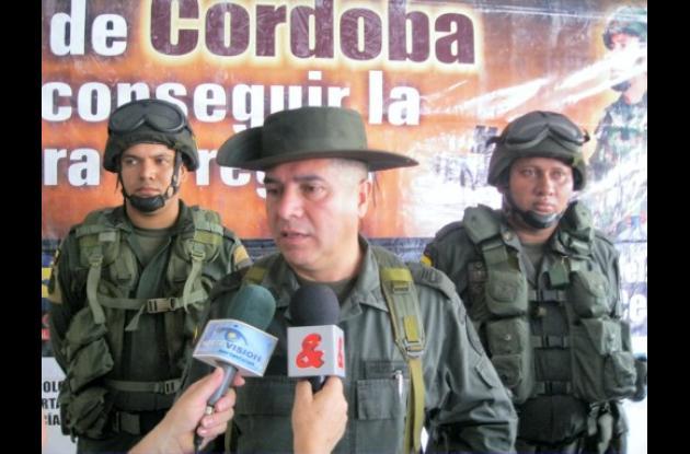 Coronel Héctor Páez Valderrama, comandante de la Policía en Córdoba
