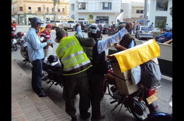 Policía sigue con controles en diferentes sectores de Montería