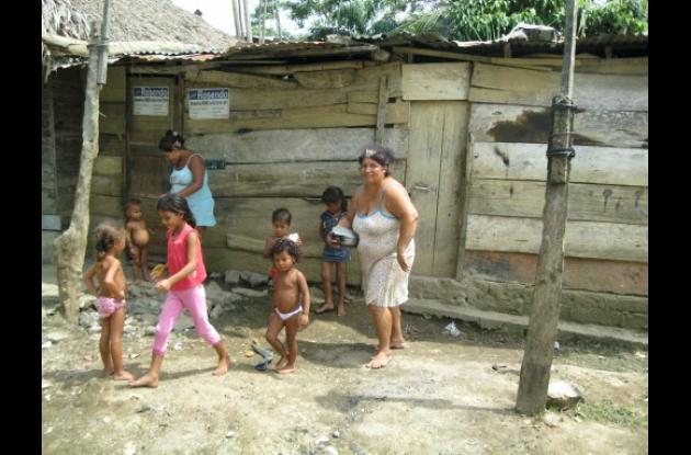 En esta casa del barrio Sucre vivían padre e hijo.