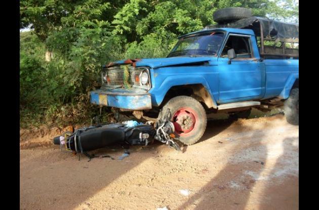 accidente de tránsito en el municipio de Pueblo Nuevo, Córdoba.