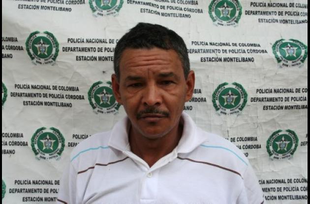 Wilson Aguirre Montes, capturado por la Sijín en Córdoba.