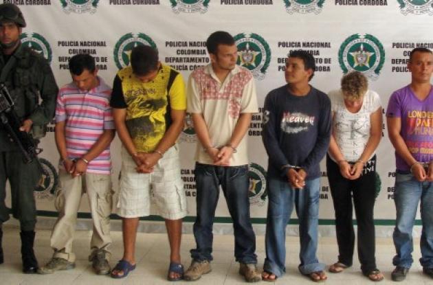"""Las autoridades capturaron a siete integrantes de la banda """"Los Urabeños"""""""