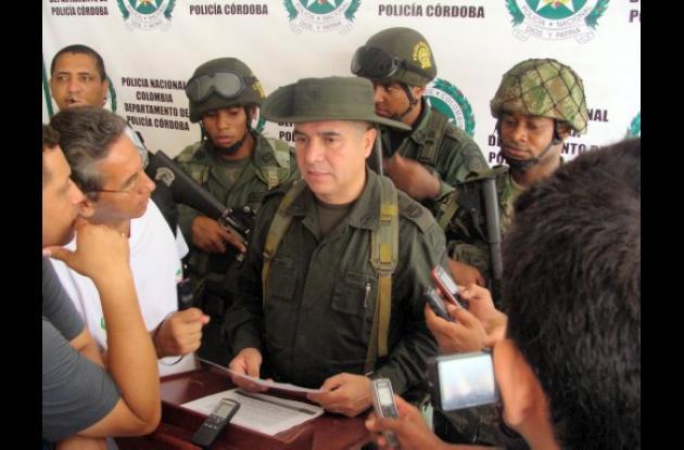 El coronel de la Policía en Córdoba, Héctor Páez Valderrama.