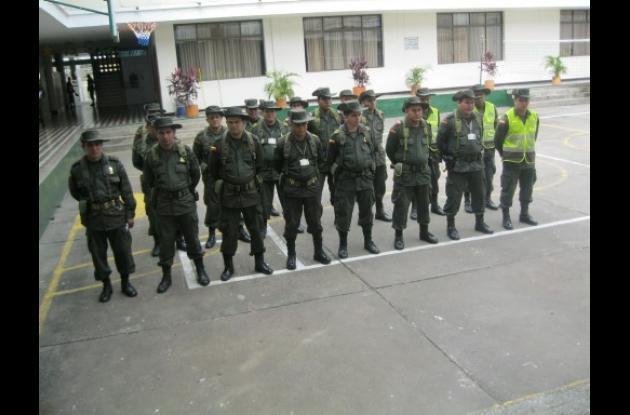 La policía nacional sigue con controles de seguridad en Montería