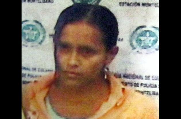 Deirys Ortega Vergara, capturada.