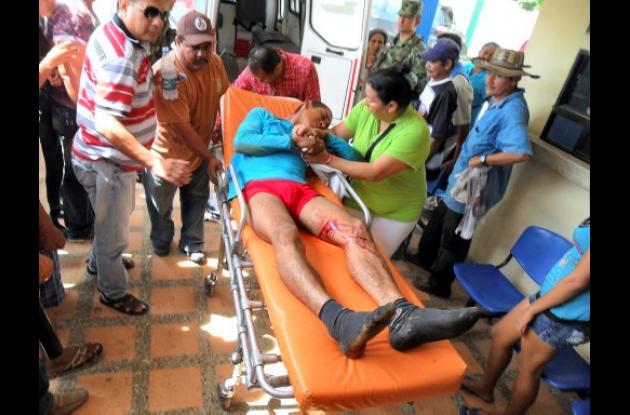 Walber Ruiz Díaz resultó herido en extrañas circunstancias.