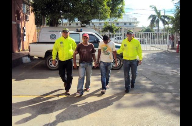 Henry Martínez y Daniel Olivero, capturados por la Policía