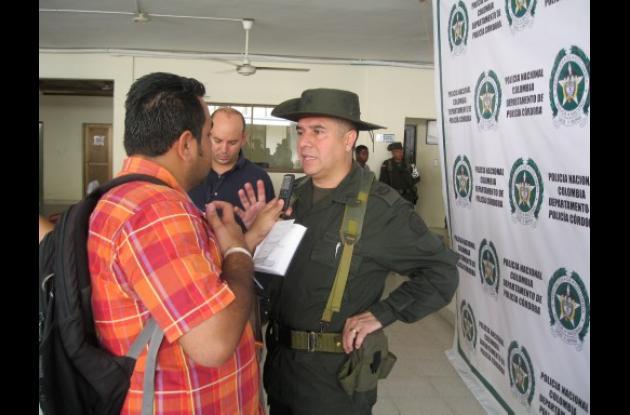 Coronel Héctor Páez Valderrama, director de la Policía en Córdoba.
