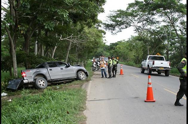 Tres personas sufrieron lesiones en el accidente
