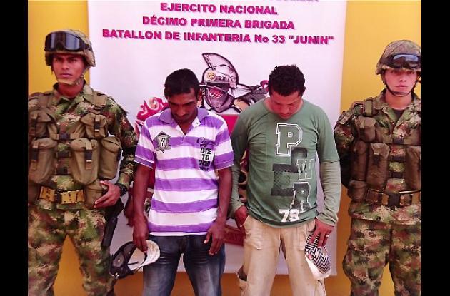 Jhon Hoyos Navarro y Jhonatan Almanza Ramos, capturados